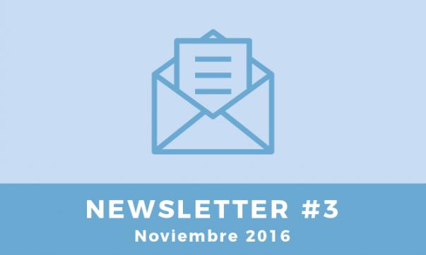 Newsletter #3 - Noviembre 2016