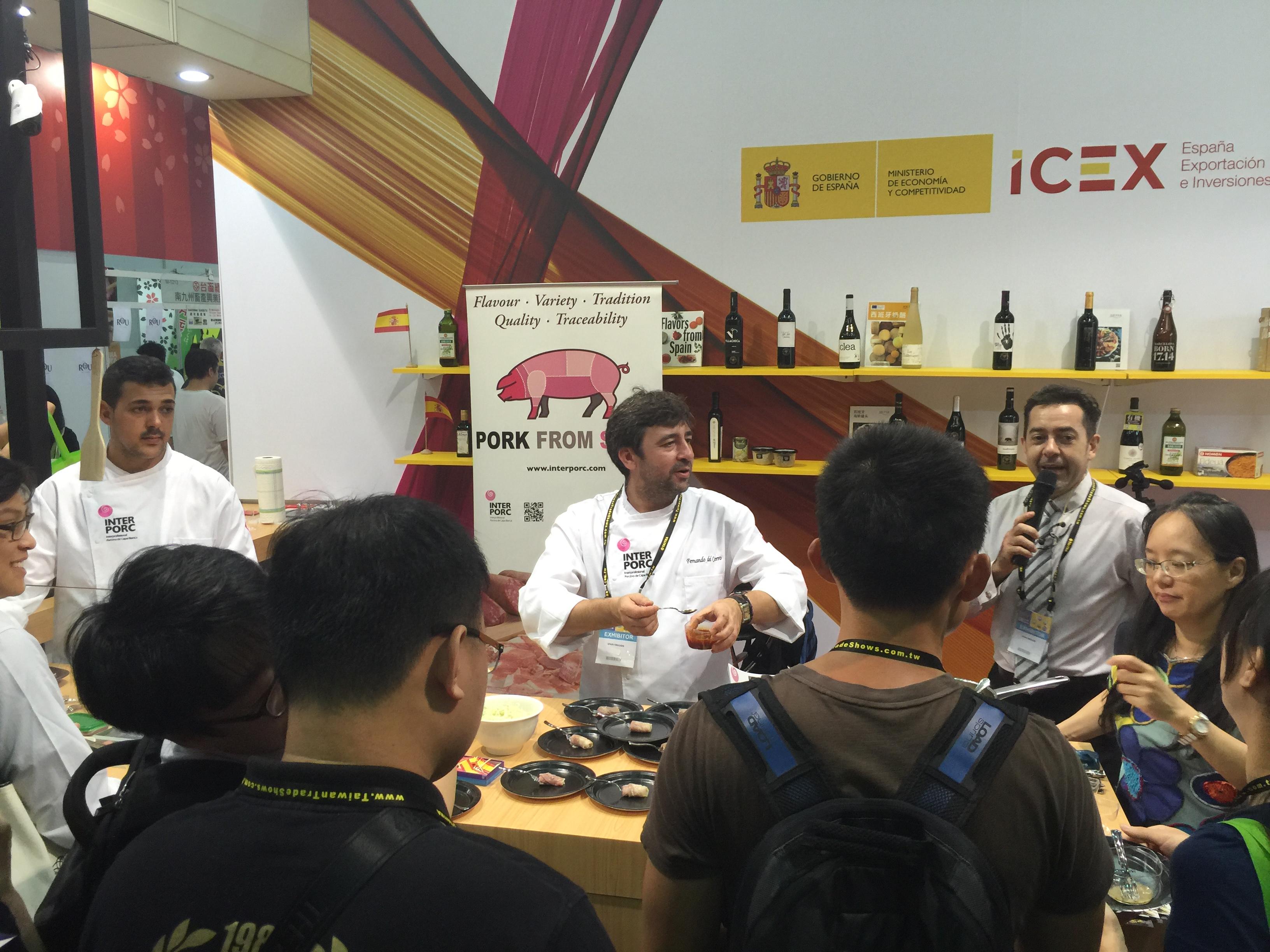 Chef Fernando del Cerro en Food Taipei en Taiwan