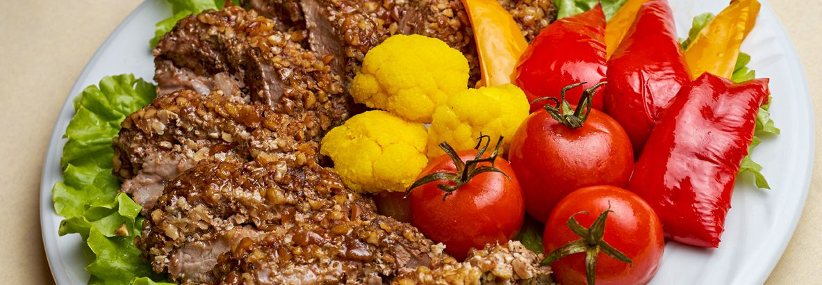 Solomillo de cerdo y frutos secos