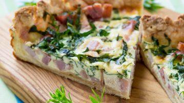 Recetas de Tarta de Jamón, queso y espinacas