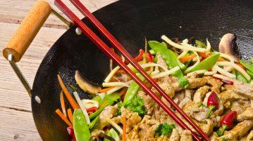 Wok: Carne de Cerdo salteado con verduras