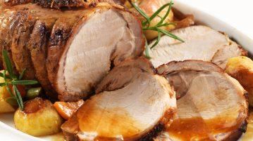 Solomillo de cerdo con manzana asada