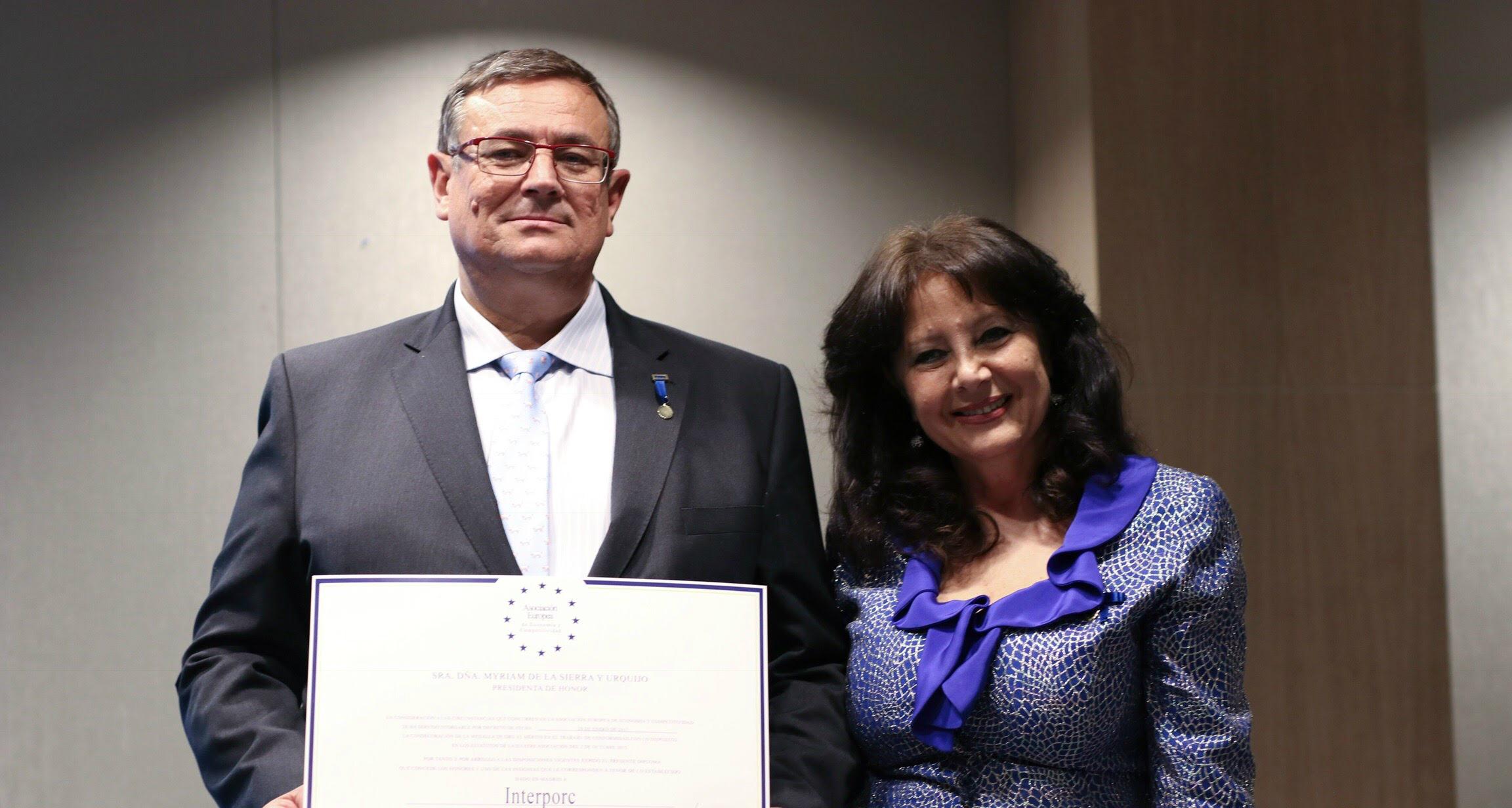 Interporc Medalla europea del mérito al trabajo