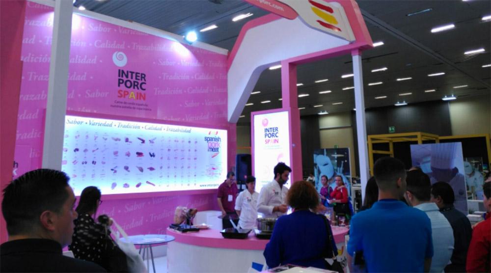 Stand de INTERPORC en Expo Antad Alimentaria México 2017.