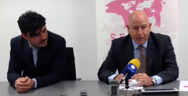 Alberto Herranz, director de INTERPORC, durante la rueda de prensa