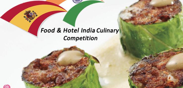 Los chefs más prestigiosos de la India compiten por el mejor plato con cerdo español de capa blanca