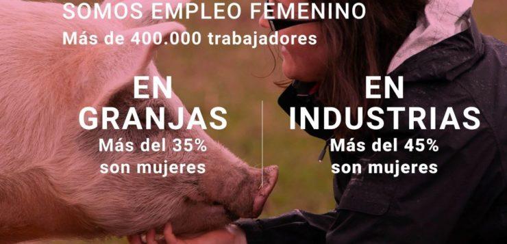 Las mujeres del sector porcino representan más del 40% del empleo en el medio rural