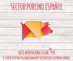 SECTOR PORCINO ESPAÑOL, SIETE APORTACIONES CLAVE AL 'PLAN DE RECUPERACIÓN, TRANSFORMACIÓN Y RESILIENCIA DE LA ECONOMÍA ESPAÑOLA'